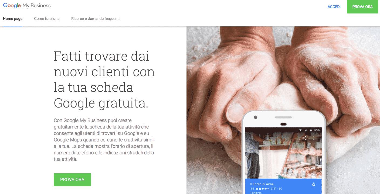 Google My Business pubblicità online gratis per ristoranti