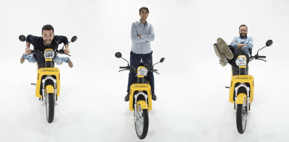 MiMoto startup scooter sharing green