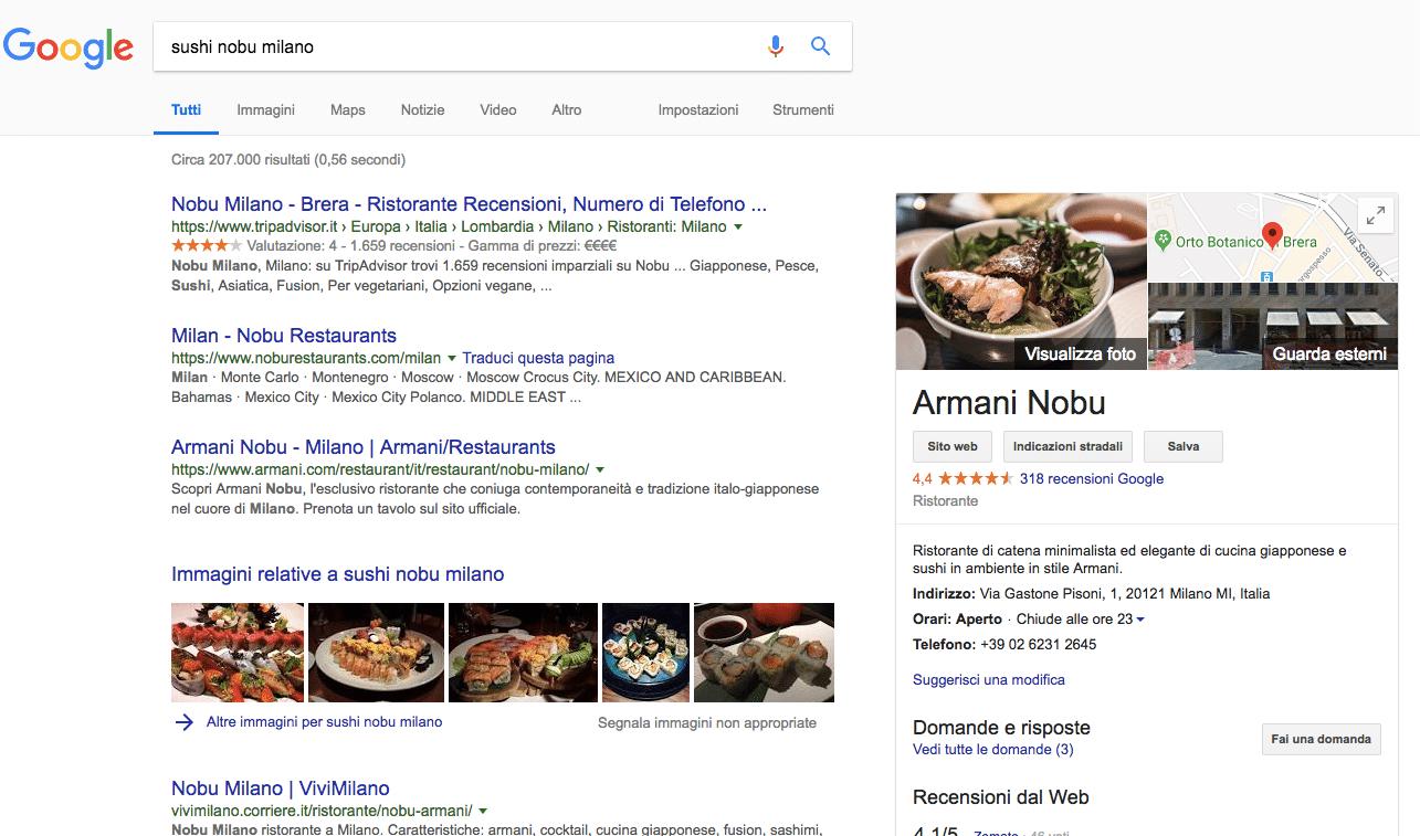 Google my business per aumentare visibilità ristorante