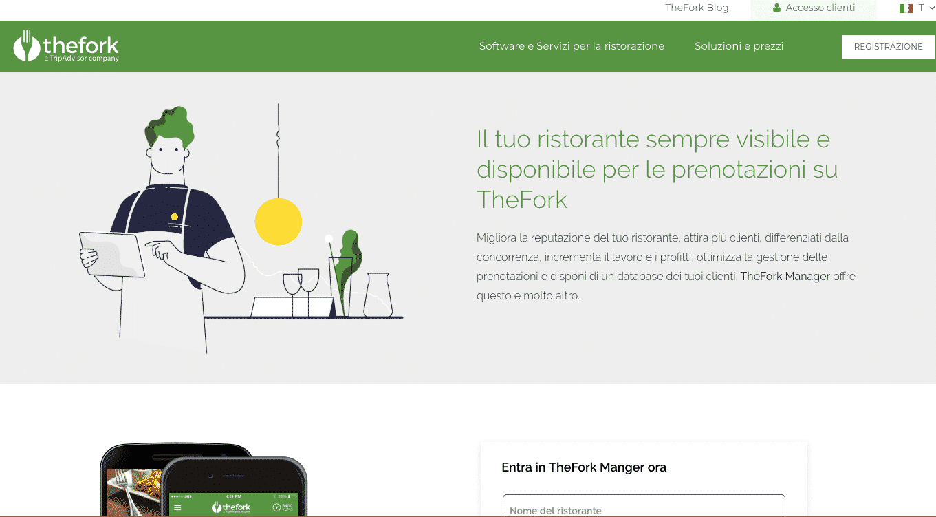 The fork marketing online per ristoranti per aumentare clienti