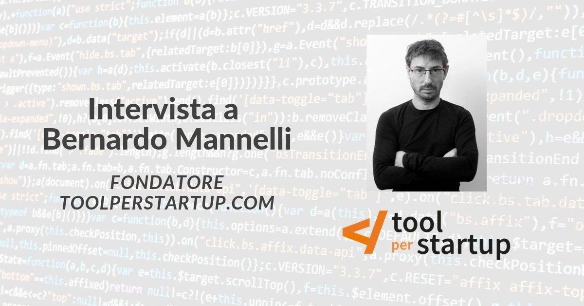 Bernardo Mannelli racconta toolperstartup.com - dall'idea ai piani futuri