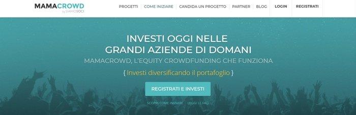 Mamacrowd, piattaforma italiana di equity crowdfunding