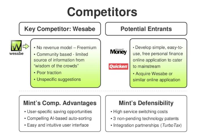 Mint analisi dei competitor