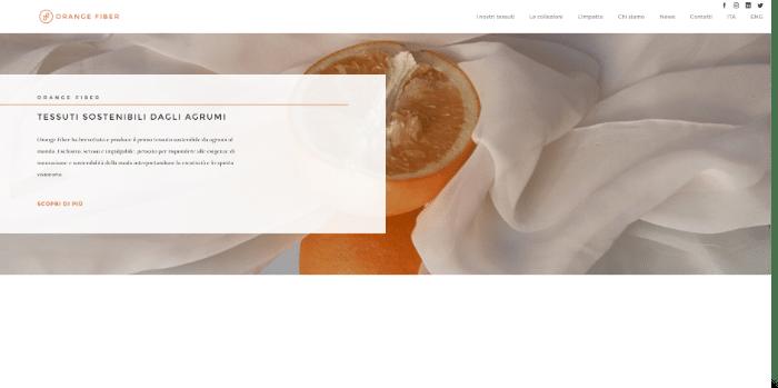 orange fiber tessuti sostenibili