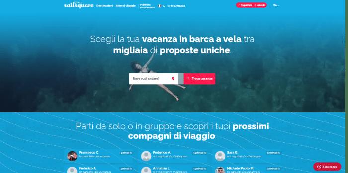 startup viaggi sailsquare