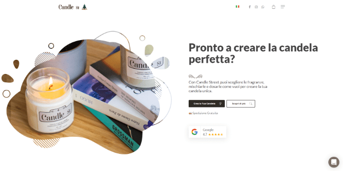 natale startup candle streets