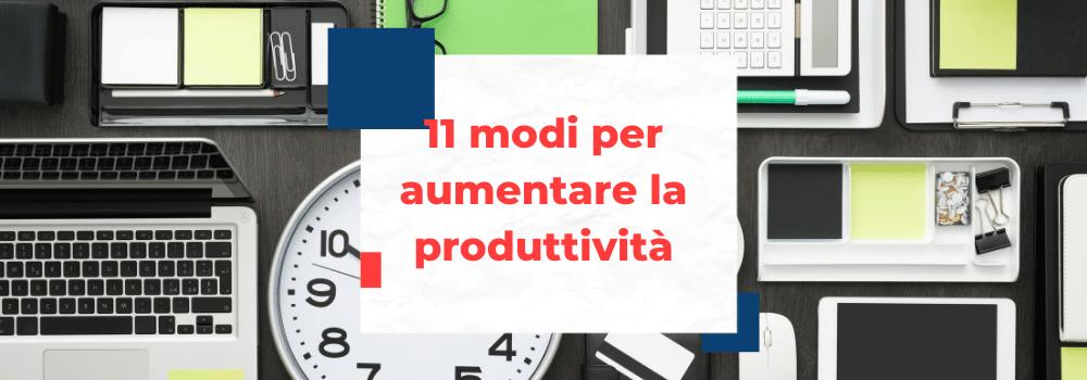 aumentare la produttività