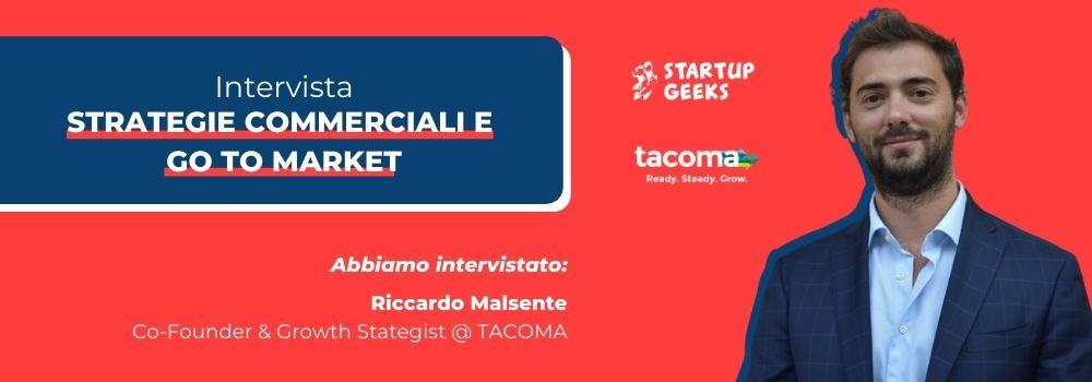 Intervista a Riccardo Malsente, Co-Founder di TACOMA