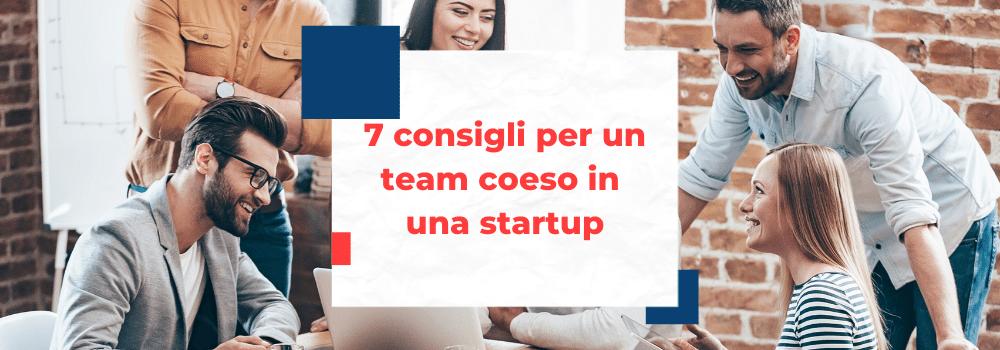 team coeso in una startup