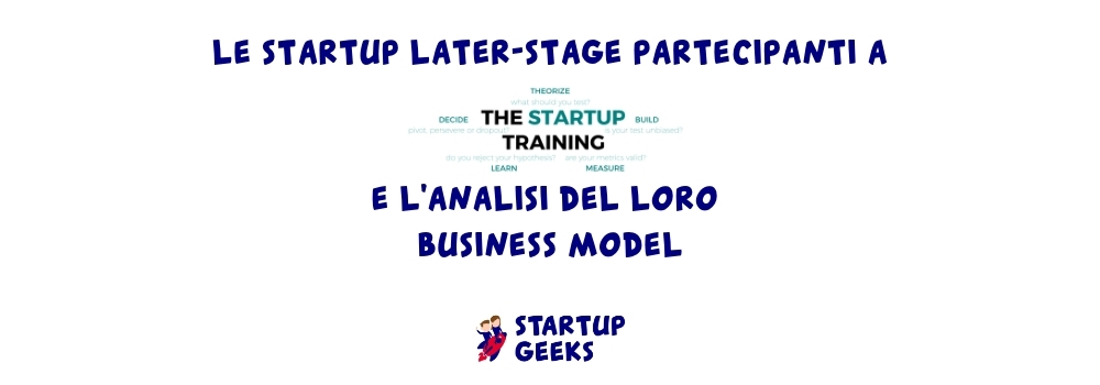 the startup training startup partecipanti