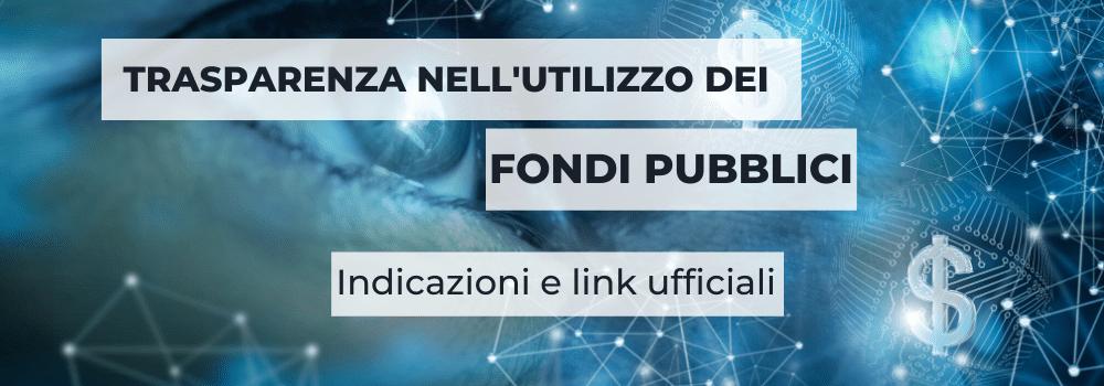 Trasparenza fondi pubblici
